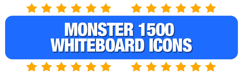 HeadingMonster1500WhiteboardIcons