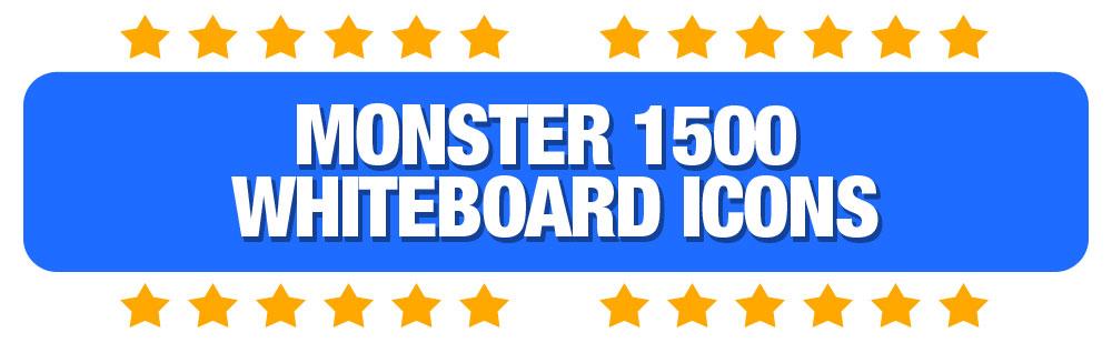 HeadingMonster1500WhiteboardIcons